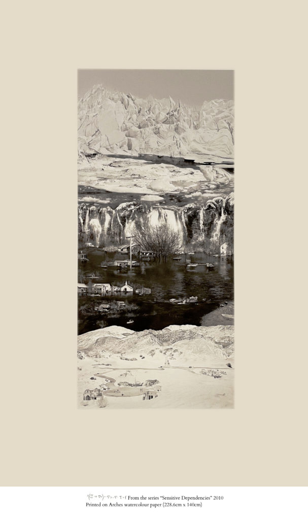 """From the series """"Sensitive Dependencies"""" 2010 Printed on Arches watercolour paper (228.6cm x 140cm)"""